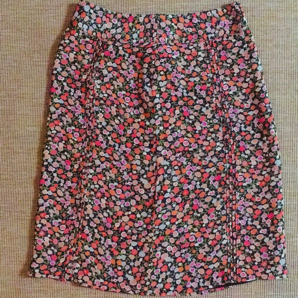 GAP Dresses & Skirts - GAP brown fall floral pencil skirt size 2 small